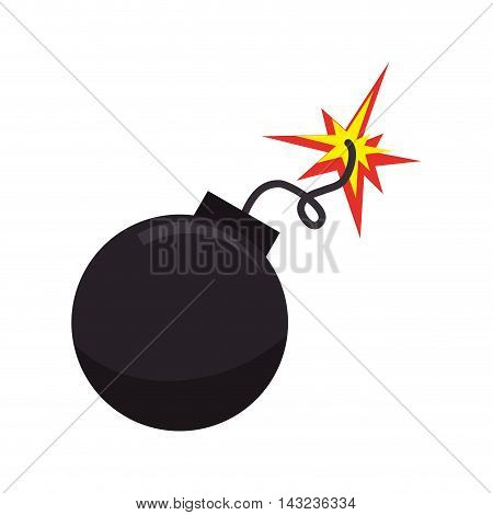 bomb boom explotion explosive detonate spark ball vector illustration