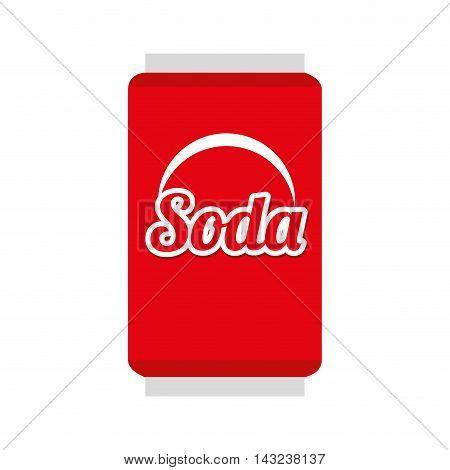 soda can beverage drink liquid refreshement red vector illustration