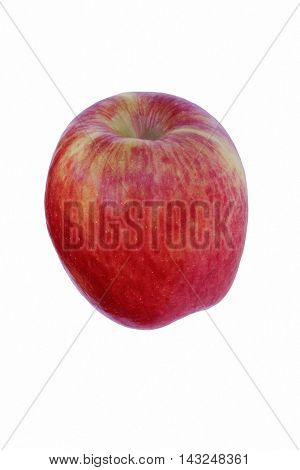 Ambrosia apple (Malus domestica Ambrosia). Hybrid between Golden Delicious and Jonagold or Starking Delicious apples probably. Image of single apple isolated on white background