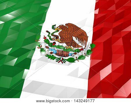 Flag Of Mexico 3D Wallpaper Illustration