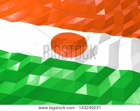 Flag Of Niger 3D Wallpaper Illustration