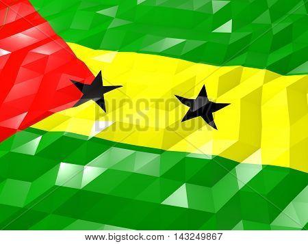 Flag Of Sao Tome And Principe 3D Wallpaper Illustration