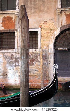 Urban scenic of Venice with Gondola, Italy