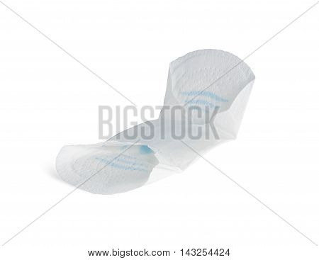 Female hygiene pad on a white background. With clipping path.