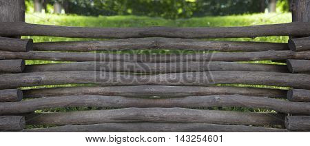 Old dark wooden fence. With clipping path