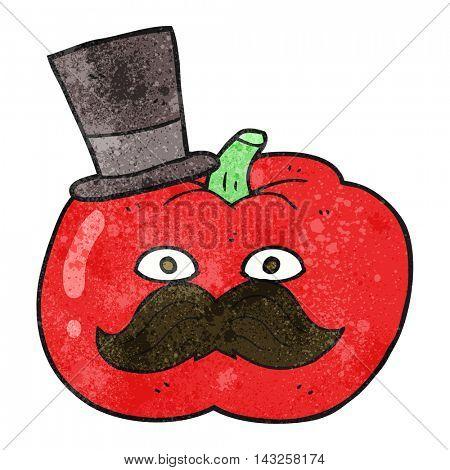 freehand drawn texture cartoon posh tomato