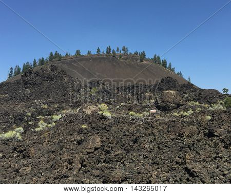 Lava rock all piled up at Lava Butte in central Oregon.