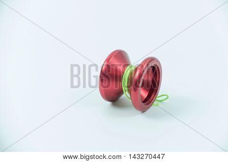 red toy yo yo isolated on white background