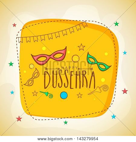 Stylish Poster, Banner or Flyer design for Indian Festival, Happy Dussehra celebration.