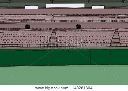 Large Stadium With Scoreboard