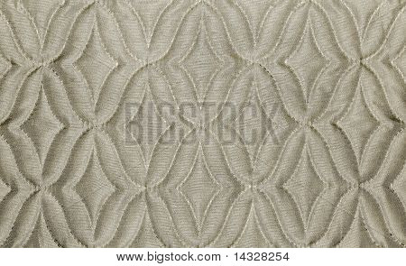 beige fabric material texture with rhombs in  color poster