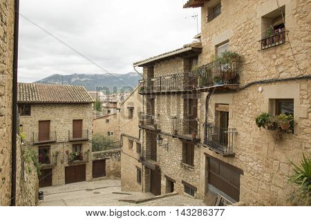 Strolling through Valderrobres in Teruel, Aragon, Spain.