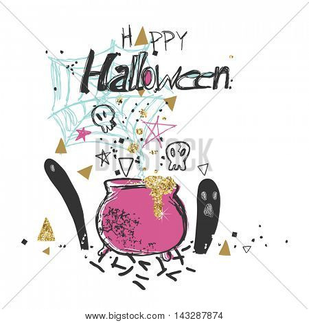 shabby chic halloween card