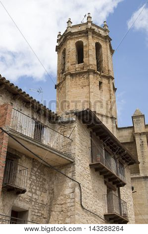 Belfry in Cretas in Teruel, Aragon, Spain.