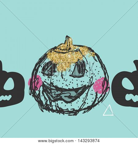 shabby chic halloween pumpkin