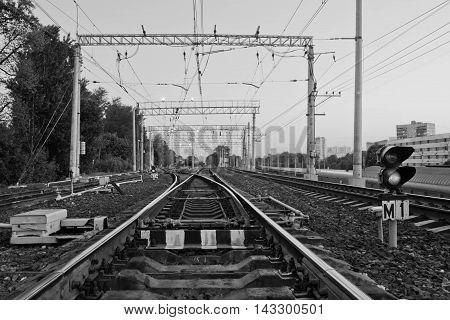 Railway Black And White