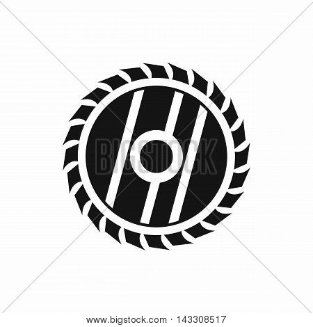 Circular saw blade icon in simple style on a white background