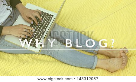 Why blog note as blogging concept with laptop