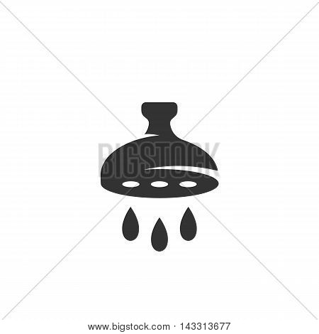 Water spray logo silhouette design template isolated on a white background. Simple concept icon for web, mobile and infographics. Abstract symbol, sign, pictogram, illustration - stock vector
