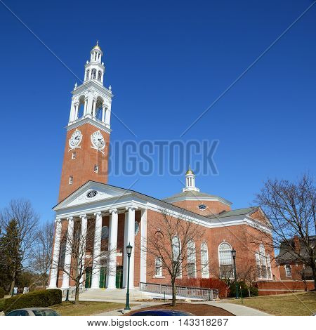 Ira Allen Chapel in University of Vermont (UVM), Burlington, Vermont, USA