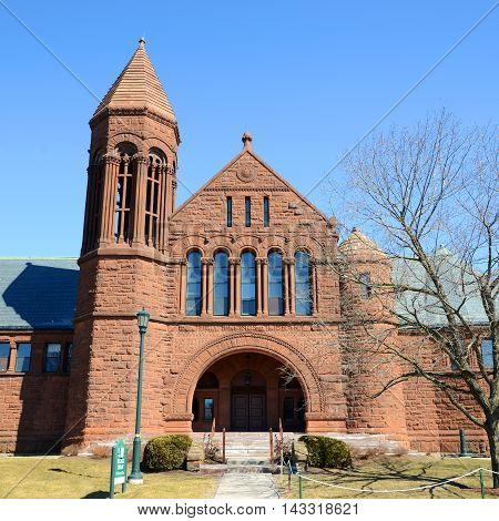 Billings Memorial Library in University of Vermont (UVM), Burlington, Vermont, USA