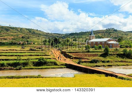 Church In A Small Viallge In Madagascar