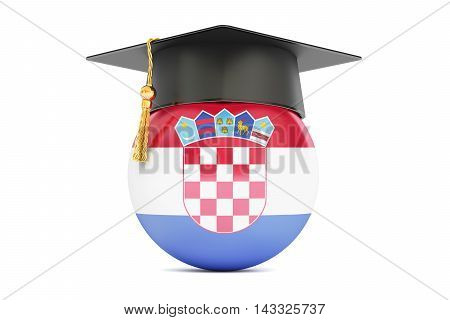 education and study in Croatia concept 3D rendering isolated on white background