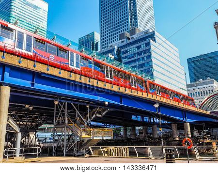Dlr Train In London (hdr)