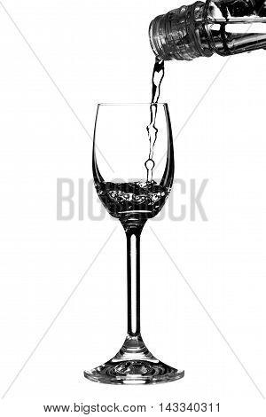 Vodka Pour Into Glass