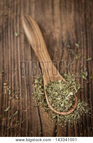 Heap Of Dried Stevia Leaves