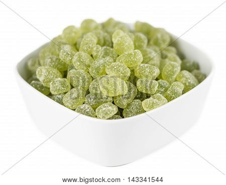 Sour Gummy Candy Isolated On White