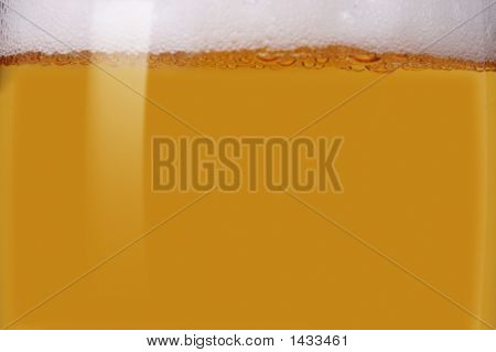 Close-Up Of Light Beer