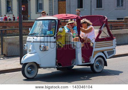 Historic Three-wheeled Piaggio Ape