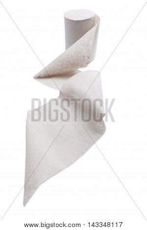 Roll Of A Toilet Paper Isolated On White Background