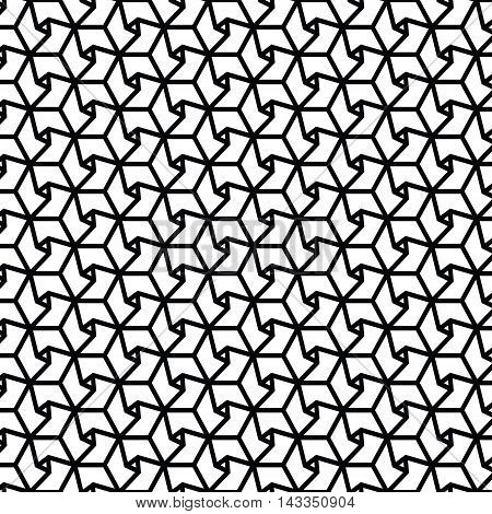 black and white geometric pattern background vector.