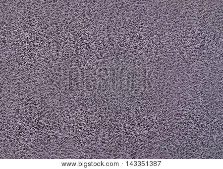 Background Pattern Horizontal Texture of Gray Plastic Doormat.