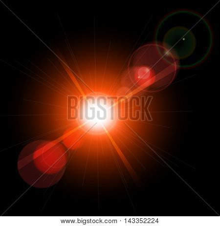 Abstract optical lens flare glare lights super high resolution. Lighting effects of flash. poster