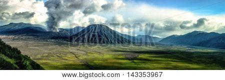 Mount Bromo taken in Tengger Caldera East Java Indonesia