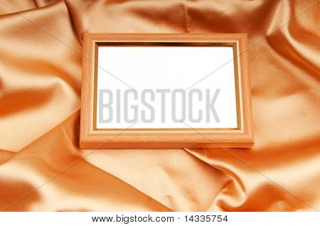 Picture frames on the color satin background poster