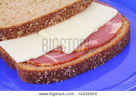 Hot Capicola And Cheese Wheat Sandwich