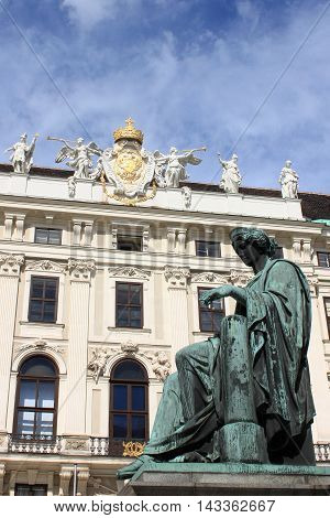 The Hofburg Palace courtyard in Vienna, Austria