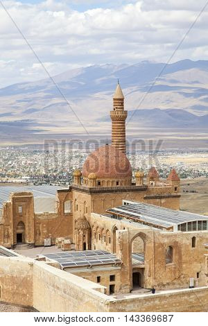 A view from Ishak pasa palace in the eastern region of Anatolia in Turkey.