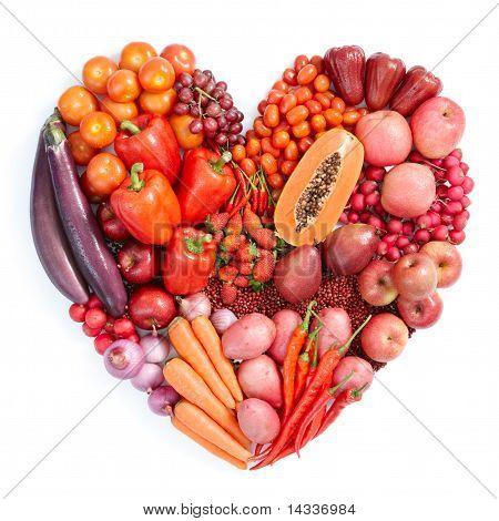 Rote gesunde Ernährung