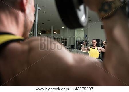Shoulders Exercise In A Gym