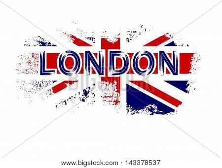 British Flag T Shirt Typography Graphics Red And White Design With London Isolated On