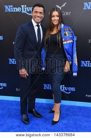 LOS ANGELES - AUG 01:  Mark Consuelos & Lola Consuelos arrives to the