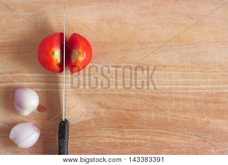 Fresh Vegetable On The Wooden Table