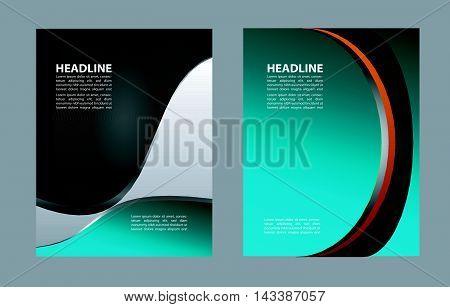 flyer, brochure or magazine cover design template. Vector