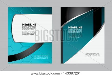 flyer, brochure or magazine cover design template. Vector