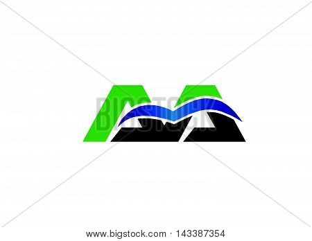 Letter a and a logo vector design template